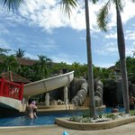 Water slides at the kid's pool area
