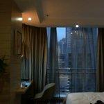 Interior of hotel studio room