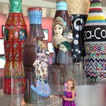 Kids love the artistic Coca Cola Bottles