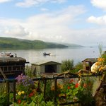 The view of Loch Fyne from the patio