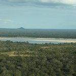 The Rufiji River as you arrive by air