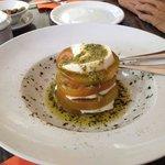 Salade met mozzarella