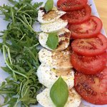 Caprese Salad.  Ask for a drizzle of balsamic.