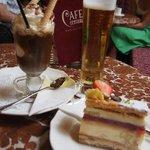 ケーキとアイスカフェ☆と主人のビール