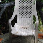 Chair on balcony