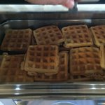 Microwave? Waffles. Definitely pre-prepared.