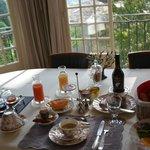 素晴らしい眺めを見ながらのとっても美味しい朝食。