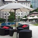 Pool Side Sitting Area