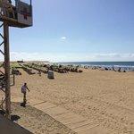 maspalomas beach, directly outside hotel