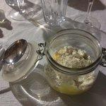 Le bocal (crème au citron maison avec meringue et spéculos.)
