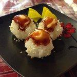 Rice and cream cheese balls...delish!