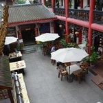 De binnenplaats / ontbijtzaal / restaurant