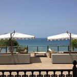 View of the sea from the hotel grounds