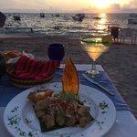 Glowing Margarita at sunset