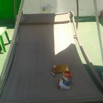 the hammock on the roof terrace