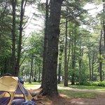 """""""beachfront"""" campground"""