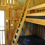 Ladder to top bunks