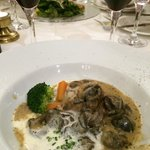 Escargot cooked with light cream