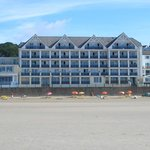 View of hotel directly from the beach.