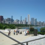 Chicago skyline from aquarium