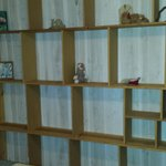 Shelves were awesome for clothes storage