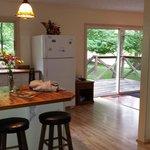 Kitchen/Dining/back deck