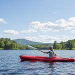 Kayaking with Stratton Mt in the background