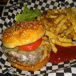 Blu cheese bacon burger