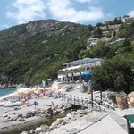 Hotel and Beach from local taverna