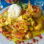 Curry shrimp at La Plage de Maui