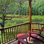 Flat Creek from stream side cabin