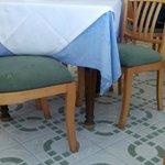 Suciedad de las sillas