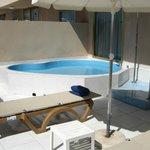 minipiscina privata in terrazza