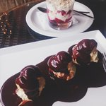 profiteroles and cranachan
