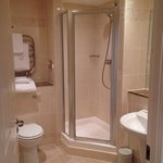 Bathroom in room 227 - shower and bath
