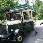 Front door service - vintage tour bus