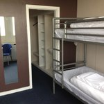 A 4 person room with 2 sets of bunks,ensuite,loads of luggage space.