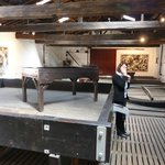 Old sorter and press in the wine museum at Ch. Lynch Bages