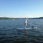 Chaz paddleboarding