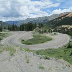 10 mph curve South of Ouray