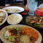 Chicken Fajitas & Burrito/Enchilada