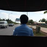 The tuk tuk ride from the airport