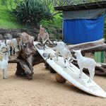 Baby goat surfboard play yard