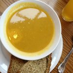 veg soup & brown bread