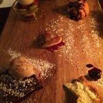 Chef tasting dessert
