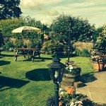 beer garden area