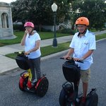 Nana on the Segway with flames - priceless!