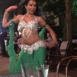 Sexy little belly dancer on a Friday night.