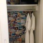 Closet, robes, safe
