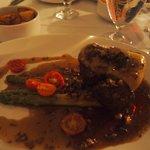 Beef tenderloin dish